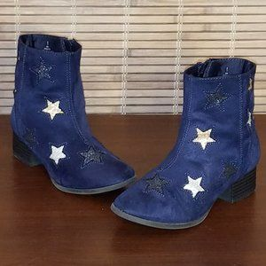Navy suede ankle boots  SALE: 3 for $25
